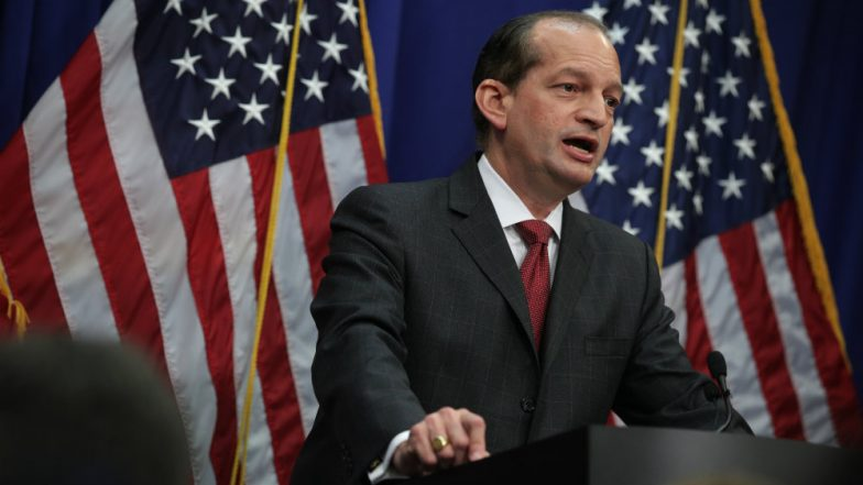 Secretary Of Labor Alex Acosta Resigns Amid Growing Jeffrey Epstein Scandal