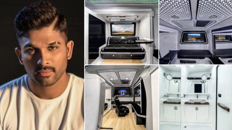 Allu Arjun Shares Stills Of His Plush Upgraded Vanity Van - View Inside Pics