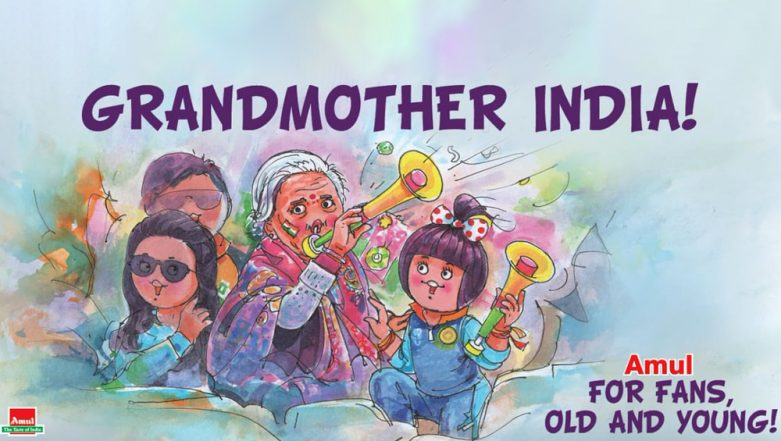 Charulata Patel, 87-Year-Old Team India Fan Features in a Topical Amul Ad! View Pic