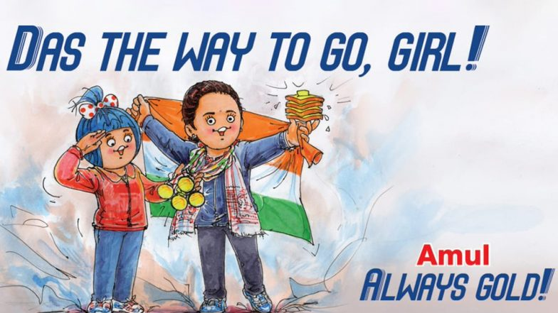 Amul Congratulates Hima Das With a Topical Ad, Salutes Indian Sprinter for Winning 4 Gold Medals in 15 Days (View Pic)