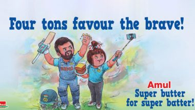Amul Congratulates Rohit Sharma for Scoring 4 Centuries in ICC Cricket World Cup 2019 With a Special Message for the Hitman; See Pic
