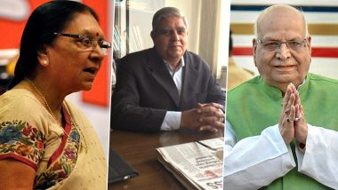 UP, MP, Bihar, West Bengal, Tripura And Nagaland Get New Governors; From Anandiben Patel to Jagdeep Dhankhar Check Full List