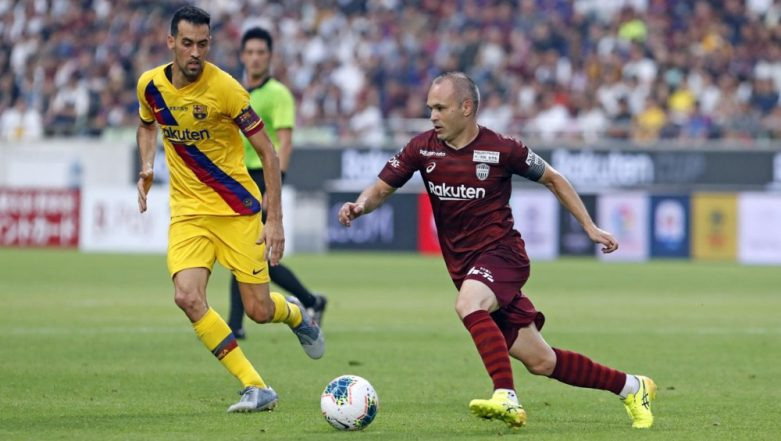 Barcelona Beats Andres Iniesta Led Japanese Club Vissel Kobe 2–0 in Pre-Season Friendly