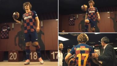 Antoine Griezmann Visits Barcelona FC Dressing Room for The First Time in La Liga Jersey, Posts Memorable Instagram Video