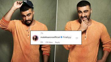 Malaika Arora Says 'Finally' as Boyfriend Arjun Kapoor Gets Rid of His Caps and Flaunts New Hairdo (See Pics)