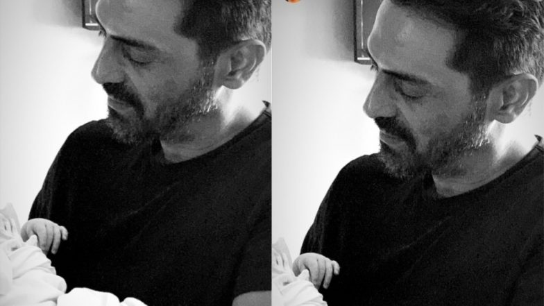 First Picture Out! Gabriella Demetriades Shares A Candid Photo Of Arjun Rampal With Their Newborn Son