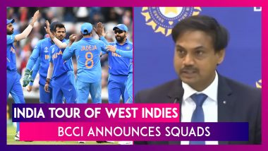 India Tour of West Indies: BCCI Announces Squads for T20I and ODI