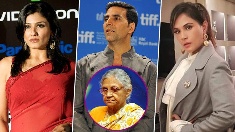 RIP Sheila Dikshit: Akshay Kumar, Raveena Tandon, Richa Chadha and Other Bollywood Celebs Mourn Former Delhi CM's Death