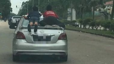 Video of Boys Performing 'Superman Stunt' on Moving Car Goes Viral in Malaysia, Driver Arrested