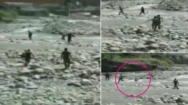 CRPF Jawans Who Saved 14-Year-Old Girl From Drowning in Baramulla, Jammu & Kashmir, Awarded Commendation Disc and Certificate, Watch Rescue Video