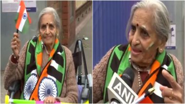 Meet Charulata Patel, the 87-Year-Old 'Young' Fan Cheering For India During IND vs BAN, CWC 2019 Tie (Watch Video)