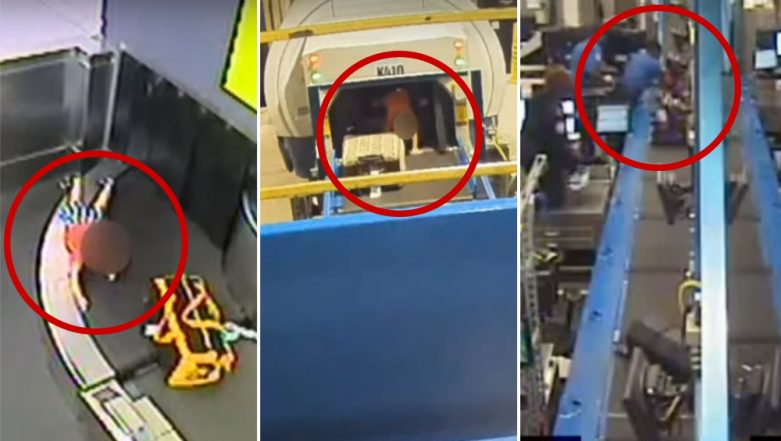 Two-Year-Old Jumps on Luggage Conveyor Belt at Atlanta Airport, Ends With Fractured Hand (Watch CCTV Video)