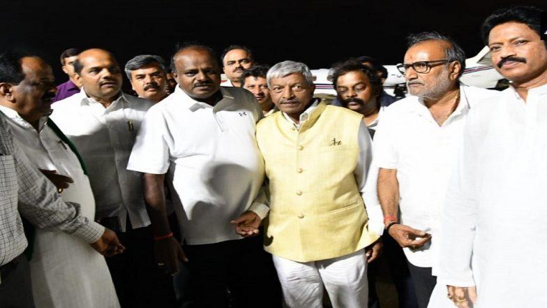 Karnataka Political Turmoil: CM HD Kumaraswamy Holds High Level Meeting With Congress Leaders to Save Government