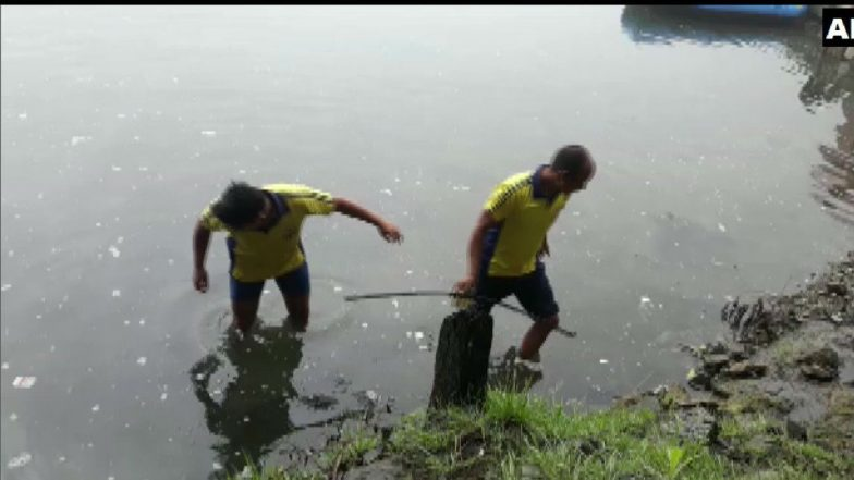 Uttrakhand: SDRF Team Conducts Cleanliness Drive in Nainital Lake