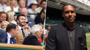 David Beckham and Liverpool Defender Virgilv Dijk Attend Wimbledon 2019 During Simona Halep vs Elina Svitolina Match, See Pics