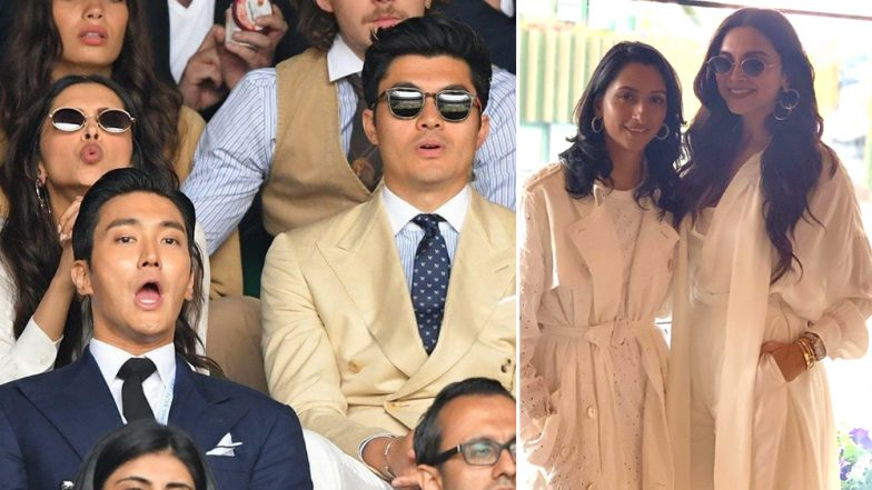 Padukone Sisters Deepika and Anisha Cheer at Wimbledons 2019 Finals With Henry Golding! View Stunning Pics of the Actress
