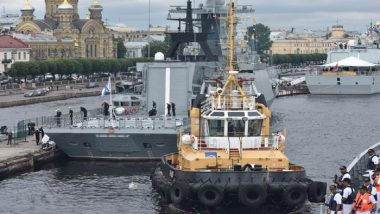 INS Tarkash Arrives at St. Petersburg To Participate in Russian Navy Day Parade
