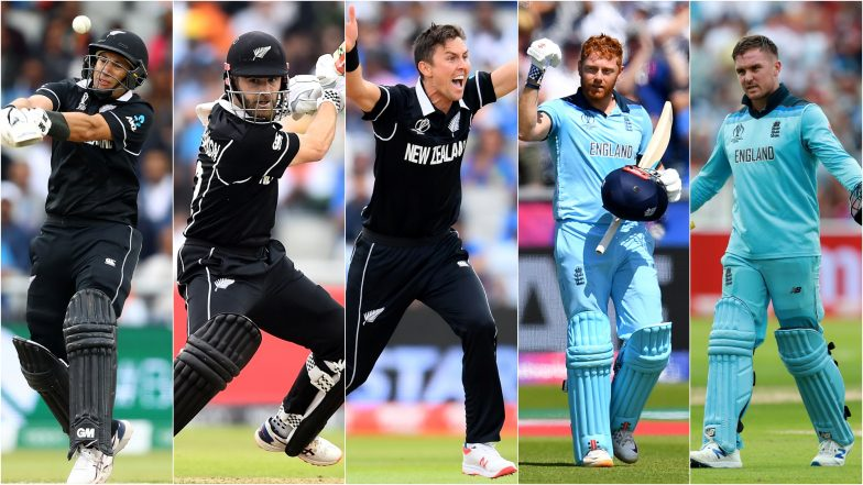 NZ vs ENG, ICC Cricket World Cup 2019 Final, Key Players: Kane Williamson, Jason Roy, Trent Boult & Other Cricketers to Watch Out for at Lord's in London