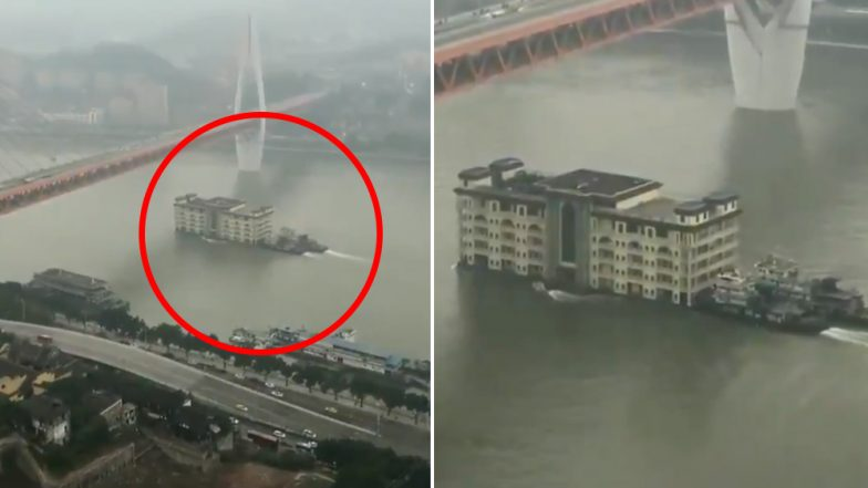 Five-Storey Building Floats in China's Yangtze River! Twitterati Has Funny Reactions For This Viral Video