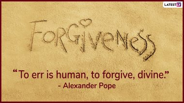 Global Forgiveness Day 2021 Quotes & HD Images: WhatsApp Messages, GIF Greetings And Wishes That Talks Volumes on Forgiving