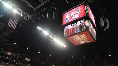 California Earthquake Shakes NBA Summer League Game Between New York Knicks, New Orleans Pelicans