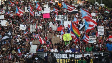 Puerto Rico: Thousands March Demanding Resignation of Governor Ricardo Rossello