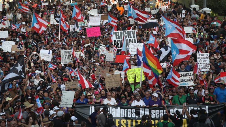Puerto Rico: Thousands March Demanding Resignation of Governor Ricardo Rossello