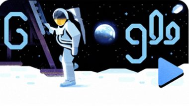 50th Anniversary of Moon Landing: Google Doodle Celebrates Golden Jubilee of Apollo 11's Mission to The Moon With Animated Video