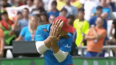 Gulbadin Naib Drops an Easy Catch During WI vs AFG CWC 2019 Match, Twitterati Bashes Up the Afghanistan Captain's Casual Approach