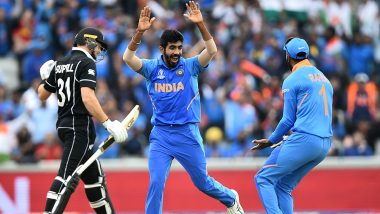 Jasprit Bumrah Dismisses Martin Guptill During IND vs NZ ICC CWC 2019 Semi-Final 1 Match; New Zealand's Struggle to Form an Opening Partnership Continues