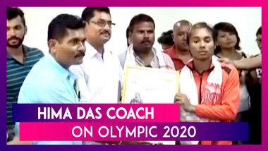 Hima Das' Coach Nipon Das: I Hope Hima Das Continues Her Good Performance in Olympics 2020