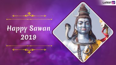 Happy Sawan Somvar 2019 Messages: WhatsApp Stickers, GIF Images, Facebook Photos, Greetings and SMS to Celebrate The Holy Month of Shravan
