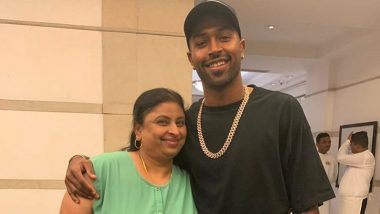 Hardik Pandya Enjoys Quality Time With Mother, the Indian All-Rounder Shares Sweet Photo With Mom on Instagram (See Pic)