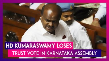 HD Kumaraswamy-Led Congress-JDS Coalition Govt Loses Karnataka Trust Vote