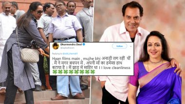 Dharmendra Trolls Wife Hema Malini's Sweeping Act but Apologises to Her Later on Twitter