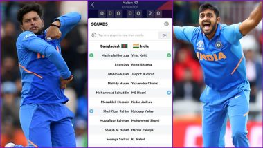 ICC App Includes Vijay Shankar, Kuldeep Yadav in India's Playing XI Against Bangladesh in CWC 2019 Match, Left Red-Faced