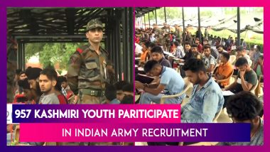 957 Kashmiri Youth Take Common Entrance Test for Recruitment to Indian Army