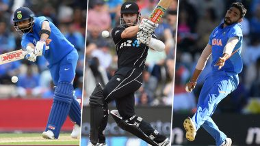 IND vs NZ, ICC Cricket World Cup 2019, Semi-Final 1: Key Players: Virat Kohli, Kane Williamson, Jasprit Bumrah & Other Cricketers to Watch Out for at Old Trafford Cricket Ground in Manchester