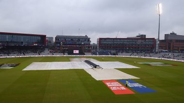 Manchester Weather Live Updates: Sun Is Out at 3:00 PM IST | Hour by Hour Rain Forecast During India vs New Zealand CWC 2019 Semi-Final Match on Reserve Day at Old Trafford Cricket Ground