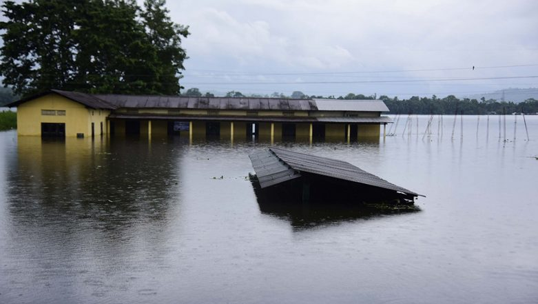 Assam Floods: 28 Dead As Heavy Rainfall Wreaks Havoc in 29 Districts, Over 57 Lakh People Affected