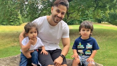 Taimur Ali Khan's Tattoo-Filled Knees and Inaaya Naumi Kemmu's Cute Expressions Steal The Limelight From Kunal Kemmu (View Pic)