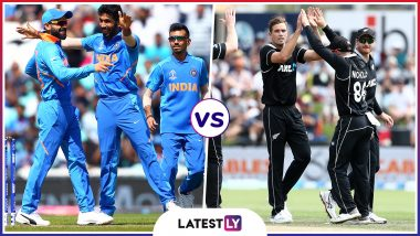 IND vs NZ Head-to-Head Record: Ahead of ICC CWC 2019 Semi-Final Clash, Here Are Match Results of Last 5 India vs New Zealand Encounters!