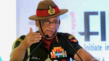 Army Chief Gen Bipin Rawat to Visit Srinagar Today to Review Security Preparedness in Kashmir Valley