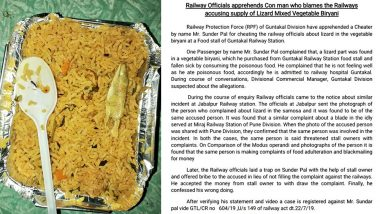 Lizard in IRCTC Food? Senior Citizen Tricks Indian Railways Staff To Get Free Meal