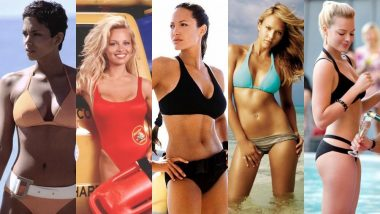 Angelina Jolie, Halle Berry, Margot Robbie, Selena Gomez, Pamela Anderson - Here's Us Reliving The Most Iconic Bikini Scenes In Hollywood