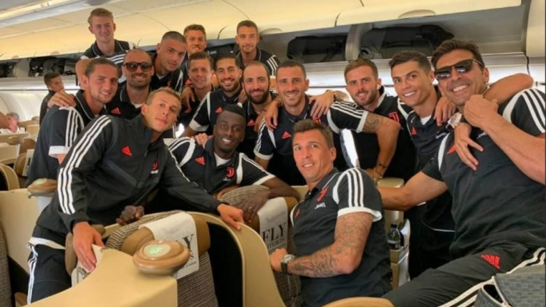 Cristiano Ronaldo's Juventus Flies To Singapore for Match Against Tottenham Hotspur in International Champions Cup 2019 (See Pics)