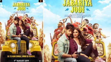Jabariya Jodi Box Office Collection Day 1: Sidharth Malhotra and Parineeti Chopra's Latest Release Is Off to a Dull Start, Mints Rs 3.15 Crore