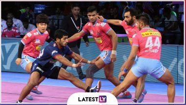 Haryana Steelers vs Jaipur Pink Panthers, PKL 2019 Match Free Live Streaming and Telecast Details: Watch HAR vs JAI, VIVO Pro Kabaddi League Season 7 Clash Online on Hotstar and Star Sports