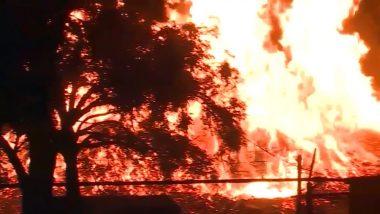 Jim Beam Warehouse Fire in Kentucky Burns 45,000 Barrels of Bourbon, Whiskey Spills Into River (View Pics)