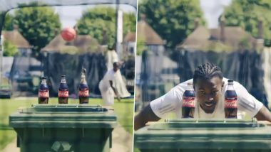 Jofra Archer Gives New Twist to #BottleCapChallenge, Removes Bottle Cap With High-Paced Delivery and a Message to Recycle (Watch Video)
